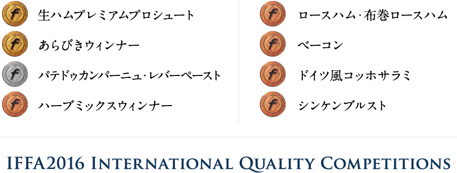 IFFA2016 International Quality Competitions